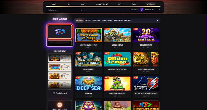7Bit Casino BTC Games