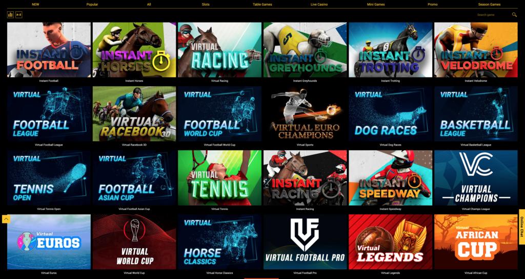 Spinamba Casino Virtual Sport