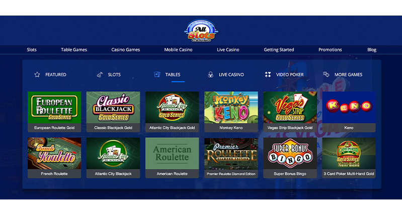 All Slots Casino Tables