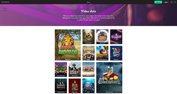 Dunder Casino Video Slots screenshot