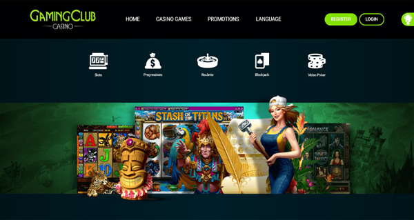 Gaming Club Casino Landing