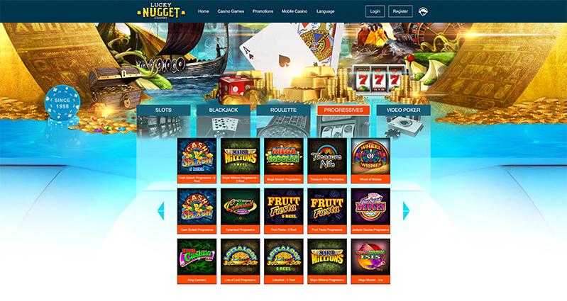 Lucky Nugget Casino progressives