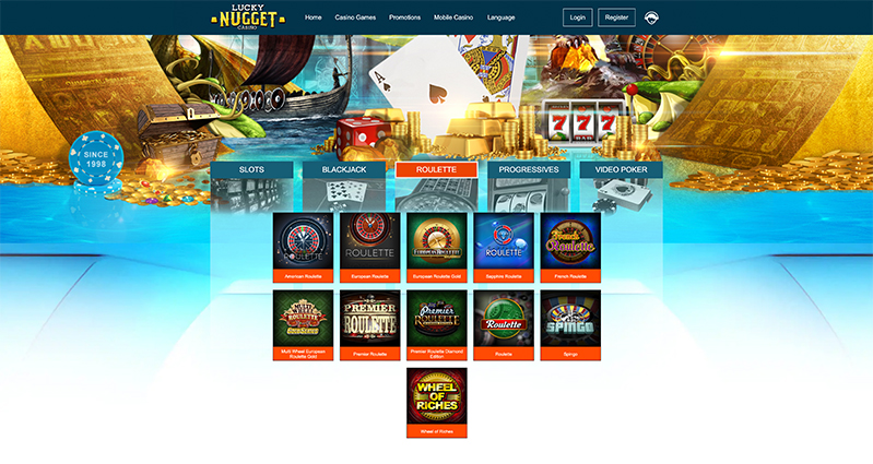 Lucky Nugget Casino roulette