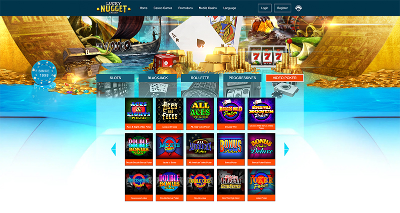 Lucky Nugget Casino videopoker