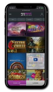 21Prive Casino mobile