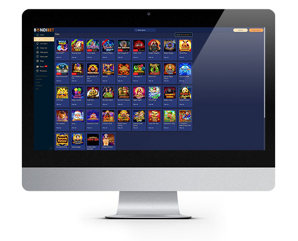 Bondibet Casino desktop
