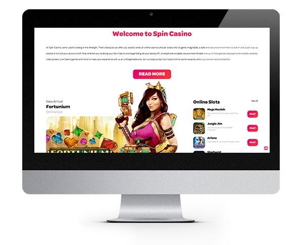 Spin Casino desktop