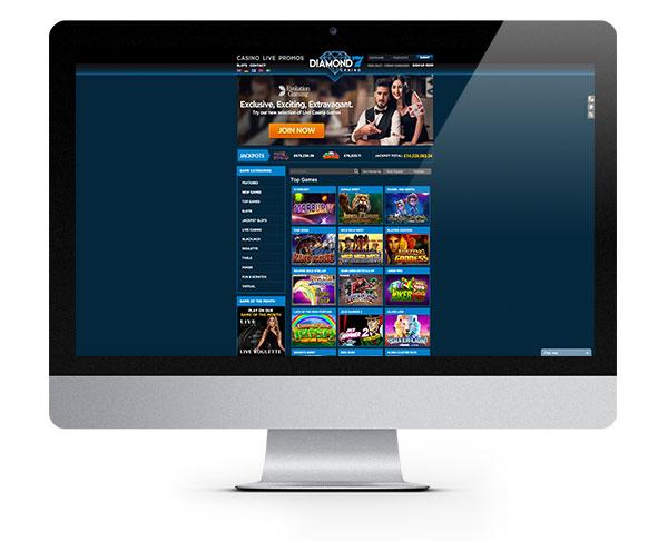 Diamond7 Casino desktop